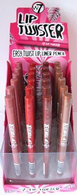 W7 Lip Twister, Twist Up Lip Liner Pencil in a Choice of Shades.
