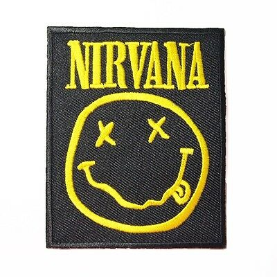 Nirvana Metal Band Logo Embroidered Iron On Patch