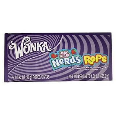 WONKA NERDS ROPE VERY BERRY SOFT GUMMI  0.92 oz each ( 24 in a Pack )