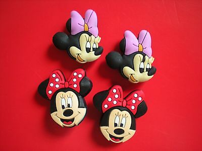 4 Pc Minnie Mouse Shoe Charm Fit Kid 4 Pc Mickey & Minnie Mouse Accessories