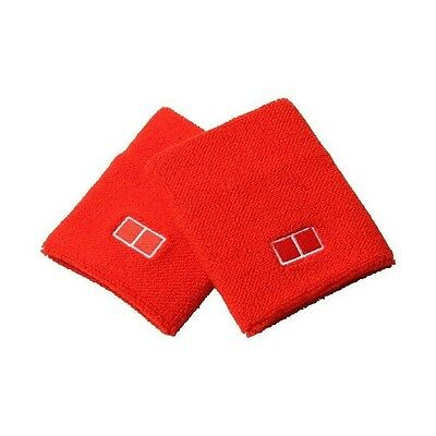 Brand New NWT UNIQLO Novak Djokovic Set of 2 Wristbands Kei Nishikori Tennis Red