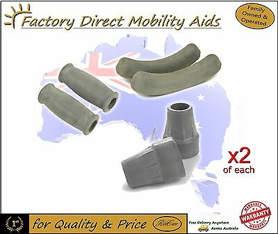 Crutches Crutch Accessories / Tips / Pads / Grips x2 Top Quality / Direct Import