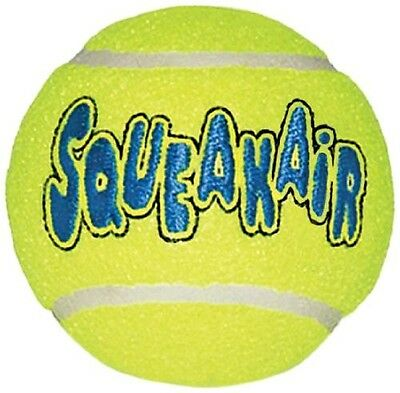 Pet Dog Toy Tennis Ball Balls Set of 3 Squeaky Made In The USA FAST SHIP NEW