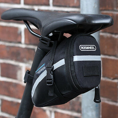 Black Bike Rear Saddle Seat Tail Bag  Pannier Pack Pouch Bicycle Cycling Cycle