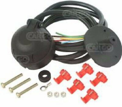 Cargo 12N 7 Pin Trailer Socket Pre-Wired Cable Kit Towing Tow Bar 180144