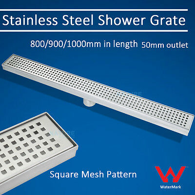 800/900/1000/1500mm Quality LONG LINEAR FLOOR GRATE WASTE BATHROOM SHOWER DRAIN