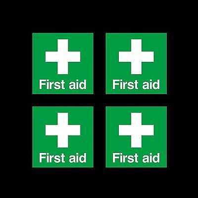 First Aid Cross Emergency Symbol - 50mm x 50mm - Self Adhesive Sticker