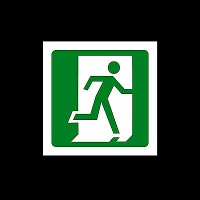 Fire Exit Final Right - Plastic Sign or Sticker - All Materials (MISC73)