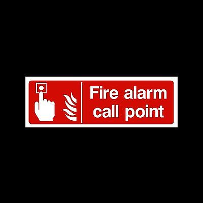 Fire Alarm Call Point - Plastic Sign or Sticker - All Sizes/Materials - (MISC76)