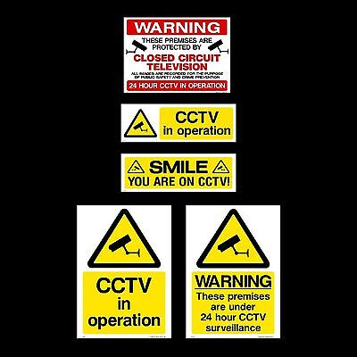 CCTV Sign, Sticker, Window - All Sizes & Materials - Security, Camera, Warning