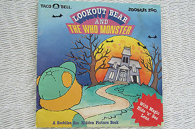 Halloween Taco Bell Zoobilee Zoo Hallmark Book Lookout Bear and the who monster