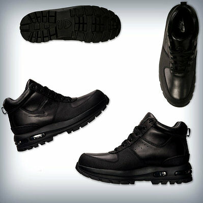 MEN'S  NIKE AIR MAX GOATERRA BOOTS Black   Leather Scuff proof Toe  365970-090