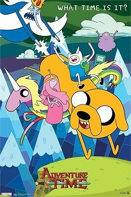 CARTOON NETWORK ADVENTURE TIME THREE 3 POSTER SET LOT 22x34 NEW FREE SHIPPING