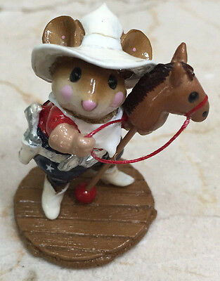 Wee Forest Folk - M-312b Giddyup LIMITED EDITION Signed by William Petersen 2003