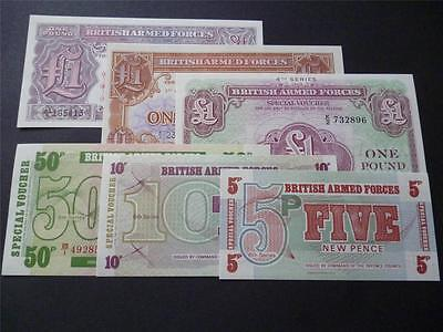 6 X  Mint Unused Military/armed Forces Banknotes In Crisp Uncirculated Condition