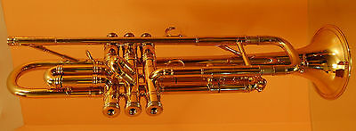 Selmer K-Modified #25 Large Bore Bb Trumpet/Case/Gold Plated Bach 3C MP