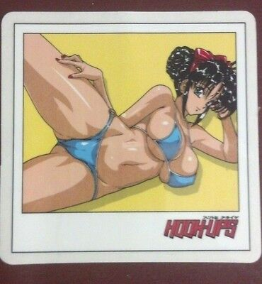 """Hook Ups Sticker, Nice Beautiful Girl With Red Ribbon ,  3-1/2"""" X 3-1/2"""""""