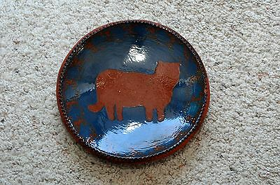 Early 1983 Signed Foltz Pottery Salad Plate