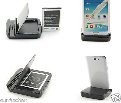 1 Battery + 1 Charger Cradle For SamSung Galaxy Note N7000 i9220 i717 EB615268VU