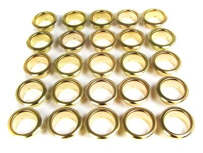 "25pc. Brass 7/8"" Inside Diam. Grommets/Candle Cups - Great for Crafts!"