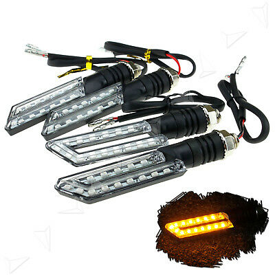 4X 12V 15LED Universal Motorcycle Bike LED Bulb Blinkers Turn Signal Indicator