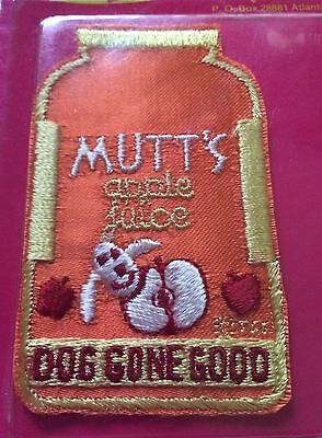 "Mutt's Apple Juice ""Dog Gone Good"" Daffy Patch by Three Fish Inc. Rare 1974 NIP"