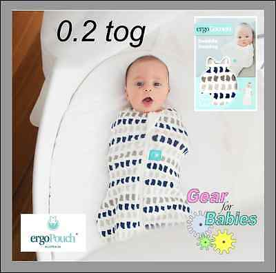 Ergo Cocoon - New Navy Paint Print - Zip Up Baby Swaddle Wrap - 0.2Tog Organic