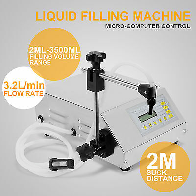 Pump Digital Control Liquid Filling Machine 2Ml-3500Ml Medical Food Cosmetic Use