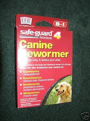 SAFE-GUARD 4 CANINE DEWORMER FOR DOGS NEW SEALED 8 IN 1 SEALED