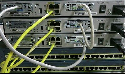 Cisco CCENT CCNA CCNP R&S SECURITY LAB 3x 1841 IOS 15.1T 256D/64F 2x 2950-24