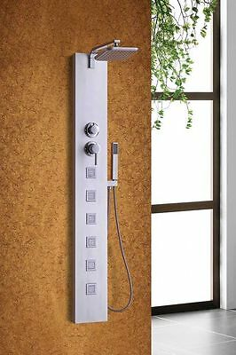 """55"""" SHOWER PANEL BATHROOM ALUMINUM 6 JETS  RAIN HEAD WITH SPROUT - brand new"""