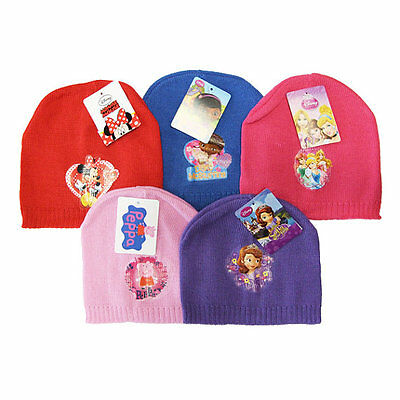 New Girls One Size Winter Hat Beanie Cap Disney Peppa Pig Kids Childrens Hats