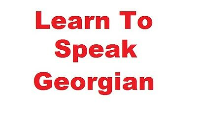 Learn To Speak Georgian - Complete Language Training Course on MP3 CD