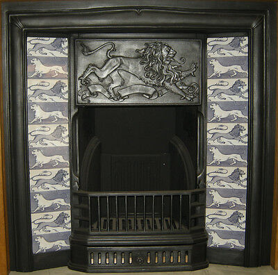 SUPERB ARTS & CRAFTS WILLIAM DE MORGAN DESIGN FIREPLACE TILES SET