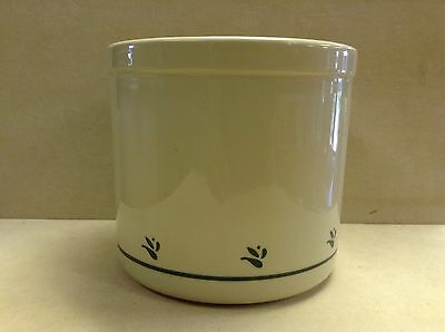 Roseville, Ohio Pottery Green 2 Qt. High Jar Crock - USA - Microwave - FP
