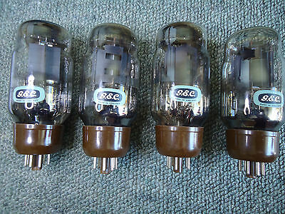 GEC KT66 BRITISH OLD STOCK QUAD OF SAME DATE CODES AVO TESTED VINTAGE VALVES