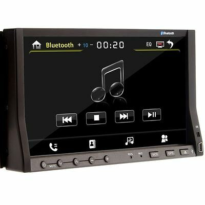 """Double Din 7"""" Car DVD Audio Player BT HDD SD/USB Touch Radio Aux None GPS Unit"""