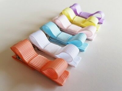 SET OF 6 PASTEL BABY HAIR CLIPS for BABY,TODDLER, GIRL