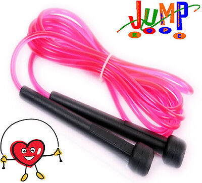 BOXING SKIPPING JUMP CARDIO MMA SPORT SPEED ROPE WARM UP 3 Meter PINK LADIES