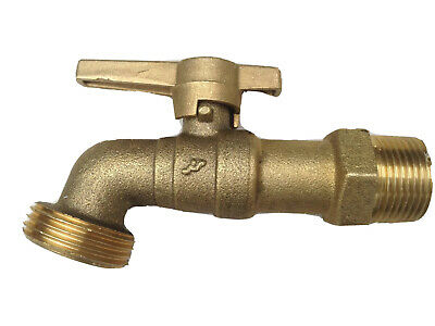 20mm Brass Garden Tap Brass Ball Cock with Brass T Lever Handle Garden Tap 3/4