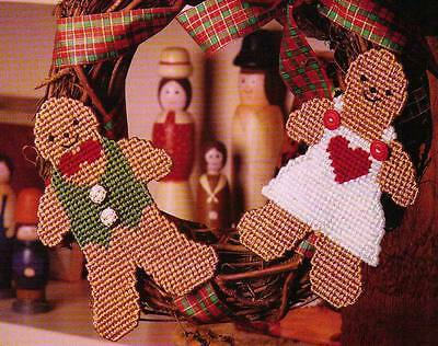 Ginger Love Boy & Girl Christmas Plastic Canvas Pattern Instructions Only