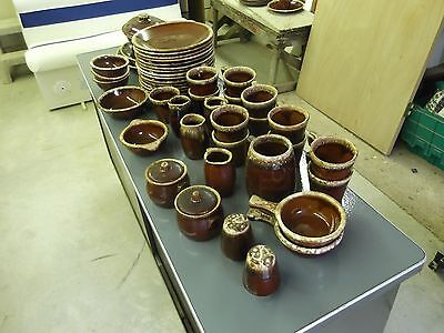 HULL USA - Vintage Brown Cookware - Oven Proof - Dinnerware - Pottery