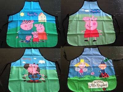 Kids Apron Peppa George Daddy Mummy Pig Character Baking Cooking Kitchen Fun