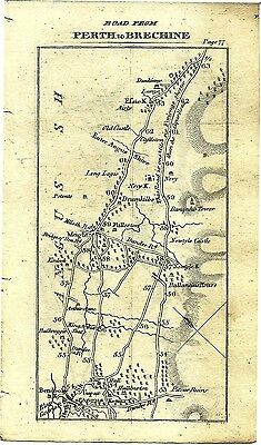 Antique map, Perth to Brechine (2)