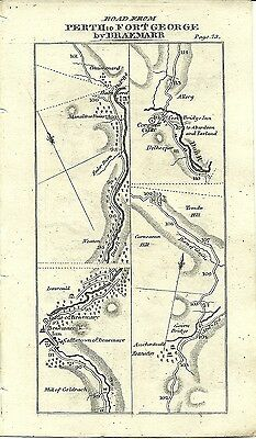 Antique map, Perth to Fort George (2)