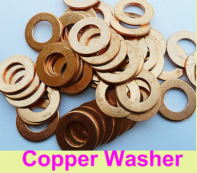"""BSP1/4"""",3/8,7/8,1/2,3/4,1"""",2"""" Solid sump plug crush sealing copper washer -US"""