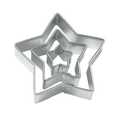 Star Cut Outs Cookie Cutters,Set of 3 SP