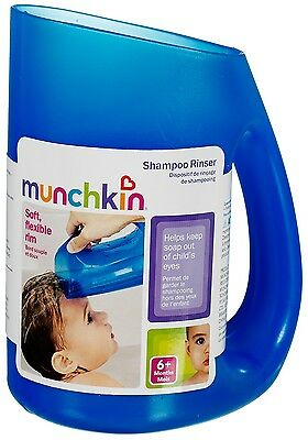 Munchkin Baby Toddler Soft Rim Shampoo Hair Rinser - Keep Water Out of Eyes Blue