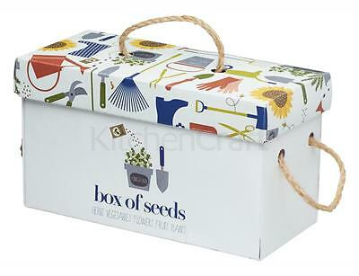 Kitchen Craft seed box + packets store organise seeds flowers vegetables swaps