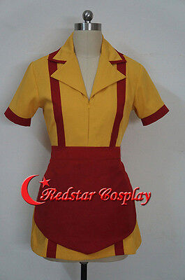 Adult TV Show Two 2 Broke Girls Max and Caroline Diner Waitress Cosplay Costume